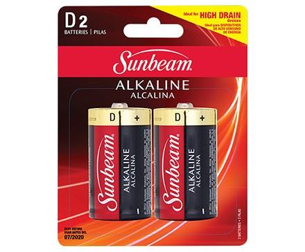 SUNBEAM D ALKALINE - 2 PACK, BLISTERCARD