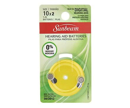 SUNBEAM 10 HEARING AID - 2 PACK, BLISTERCARD, ROTATING DIAL