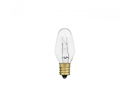 C7 NIGHT LIGHT 7W, CLEAR, BRASS BASE