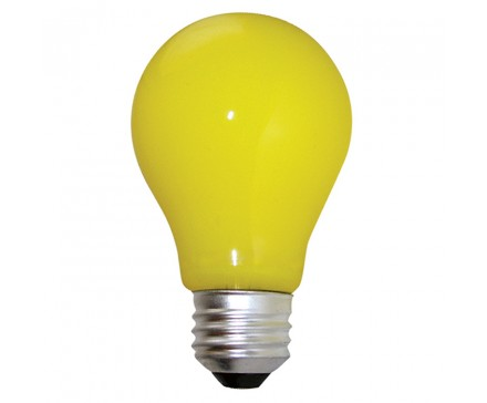 A19 BUGLIGHT 60W, YELLOW