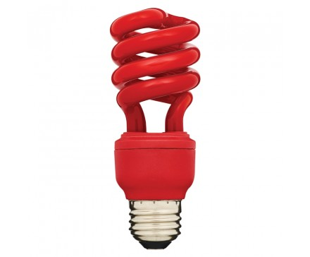 SPIRAL CFL 13W, 60W REPLACEMENT, RED