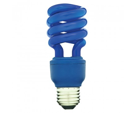 SPIRAL CFL 13W, 60W REPLACEMENT, BLUE