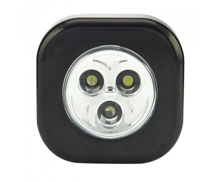 3 LED SQUARE STICK-ON PUSH LIGHT