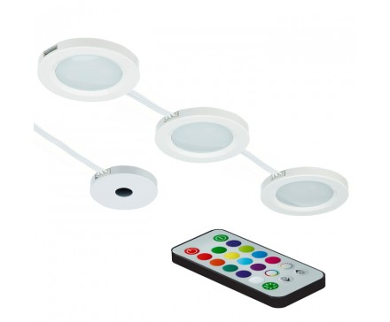 Colour changing led puck lights with remote control limage home colour changing led puck lights with remote control aloadofball Gallery