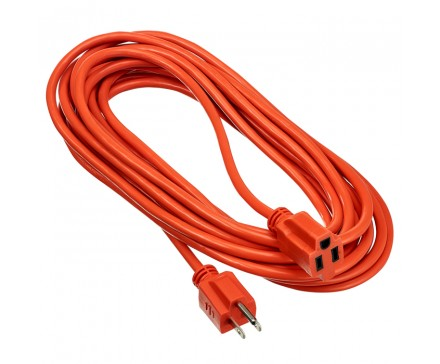 25' (7.6 M) OUTDOOR EXTENSION CORD, ORANGE