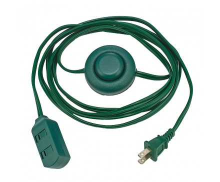6' (1.83 M) EXTENSION CORD WITH FOOT SWITCH, GREEN