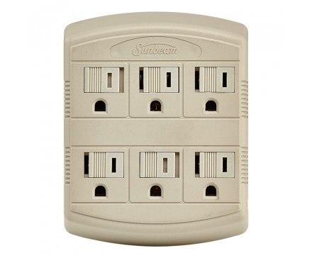 6 OUTLET WALL TAP WITH PROTECTIVE COVERS