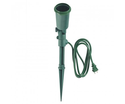 Flood Light Holder With Stake And 6 1 83 M Cord L