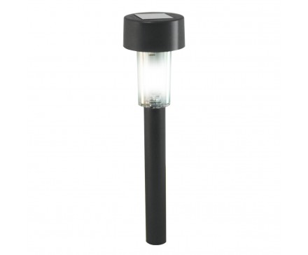 "14.2"" SOLAR LED PATH LIGHT WITH SQUARE LENS, WHITE LED"