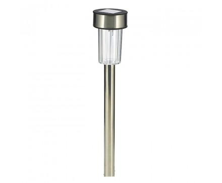 "14.2"" SOLAR LED PATH LIGHT, STAINLESS STEEL"