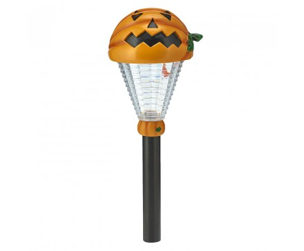 "15.375"" POLYRESIN PUMPKIN HEAD HALLOWEEN SOLAR LIGHT"