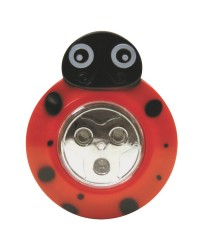 3 LED ANIMAL SHAPED STICK-ON PUSH LIGHT, LADYBUG