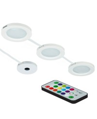 COLOUR CHANGING LED PUCK LIGHTS WITH REMOTE CONTROL