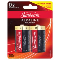 SUNBEAM D ALKALINE - 2 PACK, BLISTERCARD
