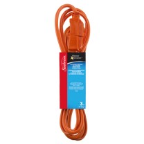 SUNBEAM 10' OUTDOOR ALL SEASON EXTENSION CORD, ORANGE, SLEEVE