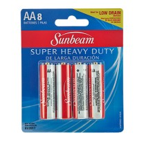 SUNBEAM AA SUPER HEAVY DUTY - 8 PACK, BLISTERCARD