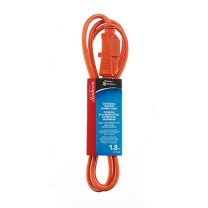 SUNBEAM 6' OUTDOOR/INDOOR POWER CORD, ORANGE, YELLOW, SLEEVE