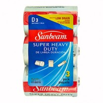 SUNBEAM D SUPER HEAVY DUTY - 3 PACK, SHRINKWRAPPED WITH LABEL