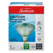 SUNBEAM PAR38 HALOGEN 70W, COLOR BOX