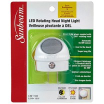 SUNBEAM LED ROTATING HEAD NIGHT LIGHT WITH SENSOR, BLISTERCARD