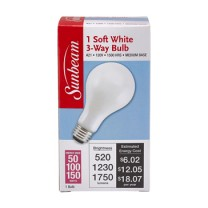 SUNBEAM A21 3-WAY 50-100-150W, SOFT WHITE, COLOR BOX