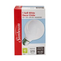 SUNBEAM G25 40W, SOFT WHITE, COLOR BOX