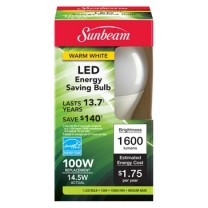 SUNBEAM A19 LED 14.5W, COLOR BOX