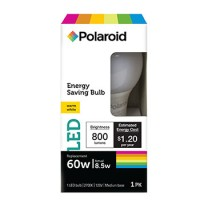 POLAROID A19 LED 8.5W, 10,000 HOURS, COLOR BOX