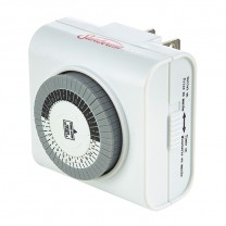 24 HOUR INDOOR ELECTRICAL TIMER, WHITE, NATURAL WHITE OR GREEN