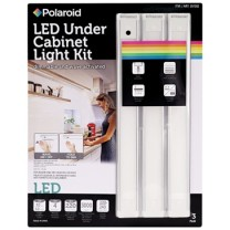 "POLAROID 12"" DIMMABLE ULTRA SLIM LED CABINET LIGHT KIT - 3 PACK, BLISTER"