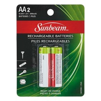 SUNBEAM AA NiMH, READY TO CHARGE, 800 mAh - 2 PACK, BLISTERCARD