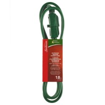 SUNBEAM 6' EXTENSION CORD, GREEN, COLOR SLEEVE
