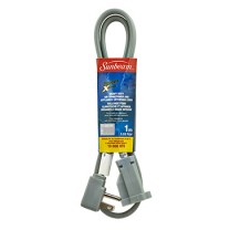 SUNBEAM 3.28' (1 M) APPLIANCE EXTENSION CORD, COLOR SLEEVE