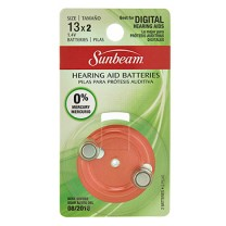 SUNBEAM 13 HEARING AID - 2 PACK, BLISTERCARD, ROTATING DIAL