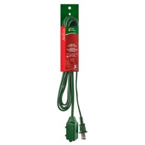 SUNBEAM 10' EXTENSION CORD, GREEN, COLOR SLEEVE
