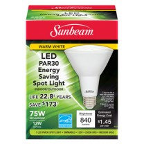 SUNBEAM PAR30 LED 12W, 75W REPLACEMENT, COLOR BOX