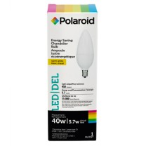 POLAROID CHANDELIER LED 5.7W, B11, 40W REPLACEMENT, COLOR BOX