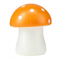 COLOR CHANGING LED MOOD LIGHT, ORANGE MUSHROOM