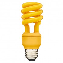 SPIRAL CFL BUGLIGHT 13W, 60W REPLACEMENT, YELLOW