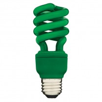 SPIRAL CFL 13W, 60W REPLACEMENT, GREEN