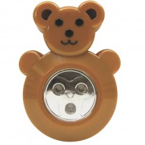 3 LED ANIMAL SHAPED STICK-ON PUSH LIGHT, BEAR