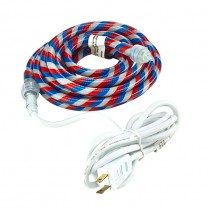 12' RED, WHITE, BLUE FLEXIBLE ROPE LIGHT