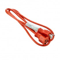 10' (3 M) OUTDOOR EXTENSION CORD, ORANGE