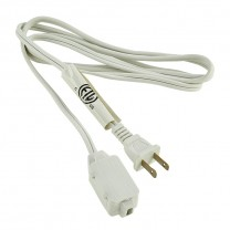 6.5' (2 M) EXTENSION CORD, WHITE OR BROWN