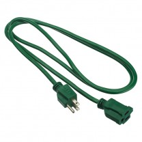 6' (1.83 M) OUTDOOR EXTENSION CORD, GREEN