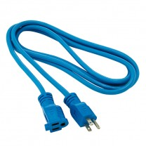 9' (2.74 M) OUTDOOR/INDOOR EXTENSION CORD, BLUE