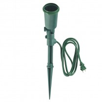 FLOOD LIGHT HOLDER WITH STAKE AND 6' (1.83 M) CORD