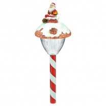 "17.5"" POLYRESIN SANTA HEAD SOLAR LIGHT"