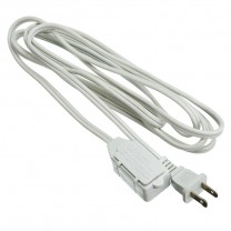 9' (2.74 M) EXTENSION CORD, WHITE