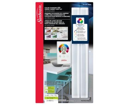 Sunbeam 16 Color Changing Led Under Cabinet Light Kit 2 Pack Blister